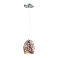 Glass Mosaic 1 Light Mini Pendant