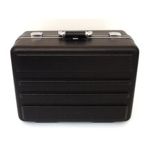 Deluxe Polyethylene Tool Case with Chrome Hardware in Black: 13 x 18 x 9