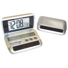 """Preset Solar"" Travel Alarm Clock"