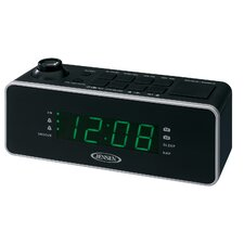 Dual Alarm Projection Clock Radio