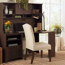 Buena Vista Corner Executive Desk with Hutch and 6-Cube Storage Bookcase