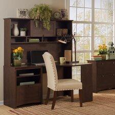 Buena Vista Corner Executive Desk with Hutch & Lateral File