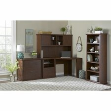 Yorktown Corner Desk with Hutch, Lateral File and Bookcase