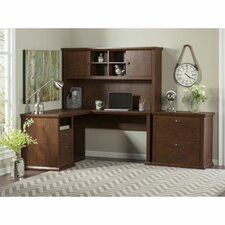 Yorktown Corner Desk with Hutch and Lateral File