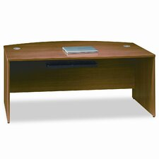 Quantum Series Bow Front Desk Shell, Modern Cherry