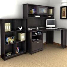 Cabot Corner Desk with Hutch and Bookcase