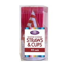 Snow Cone Straws and Cups