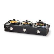 2.5-Quart Triple Slow Cooker Buffet