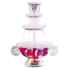Vintage Lighted Punch Party 3 Tier Fountain with Cups