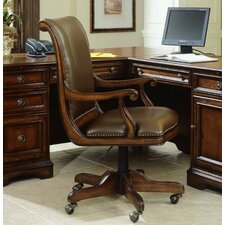 High-Back Swivel Leather Executive Chair with Arms