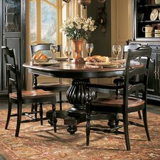 Indigo Creek Pedestal Dining Table in Black