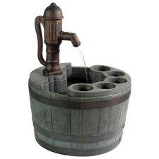 Whiskey Barrel Planter Fountain