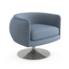 D'Urso Swivel Lounge Chair