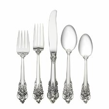 Sterling Silver Grande Baroque 5 Piece Dinner Flatware Set