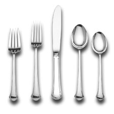 Sterling Silver Chippendale 46 Piece Dinner Flatware and Serving Set