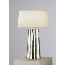 """Wavy 26.25"""" H Table lamp with Empire Shade"""