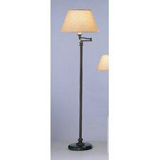 Abbey Bronze  Swing Arm Floor Lamp in Victorian Bronze