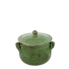 2-quart Cilantro Green Stoneware Bean Pot
