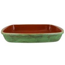 Classic 17-Inch  Cilantro Green Stoneware Rectangular Baker