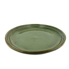 Classic 9-inch Cilantro Green Stoneware Side Plates (Set of 4)