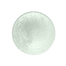 Mediterranean Wave 11-inch Ice Clear Dinner Plate (Set of 4)