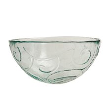 Mediterranean Wave 7-inch Ice Clear Soup/Cereal Bowl (Set of 4)