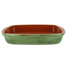 Classic 12-Inch Cilantro Green Stoneware  Rectangular Baker