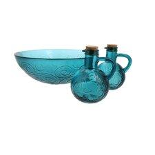 Swirl 3 Piece Glass Serving Bowl Set