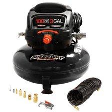 3 Gallon 0.3 HP Pancake Oil Free Air Compressor