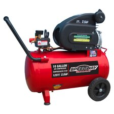 10 Gallon 2 HP Air Compressor with Pneumatic Tires