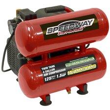4 Gallon 1.5 HP Twin Stack Oil Lube Air Compressor