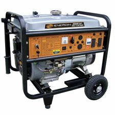 8,000 Watt Gasoline Generator with Electric Start and Wheel Kit No Battery