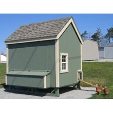Colonial Gable Chicken House with Ramp and Nesting Box