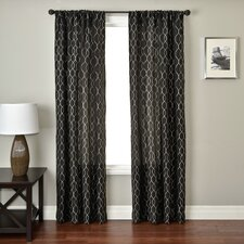 Abbey Curtain Panel in Black