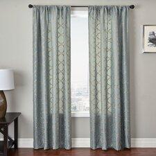 Basso Curtain Panel in Antique Blue