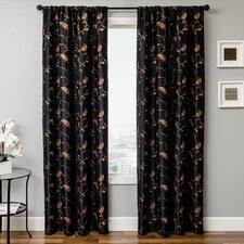 Mattie Curtain Panel in Black