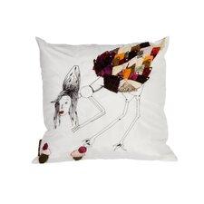 Sea Side Cupcake Natural/Organic Throw Pillow