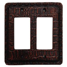 Resin Gator Double Rocker Switch Plate (Set of 4)