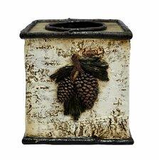 Pine Cone Birch Tissue Box