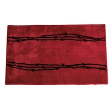 Barbwire Red Area Rug