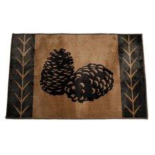 Pine Cone Chocolate/Tan Area Rug