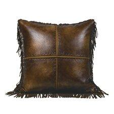 Austin Faux Leather Throw Pillow