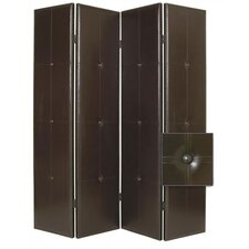 """84"""" x 76"""" Regent Double Sided 4 Panel Room Divider"""