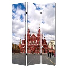 """71"""" x 47"""" Russia 3 Panel Room Divider"""