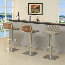 Elio Adjustable Height Swivel Bar Stool With Cushion