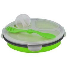 Eco 34 oz. Collapsible Lunch Box with Spork