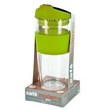 14 oz. Cafe Moderndo Glass Coffee Cup