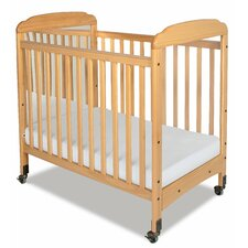 Serenity Compact Size Mirror End Convertible Crib with Mattress