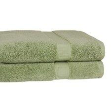 Growers 100% Zero-Twist Supima Cotton Oversized Bath Sheet (Set of 2)