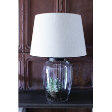 """Sanctuary Fillable 23"""" H Table Lamp with Empire Shade"""